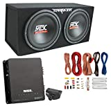 MTX 12' 1200W Dual Loaded Car Audio Subwoofers with Box Enclosure Package
