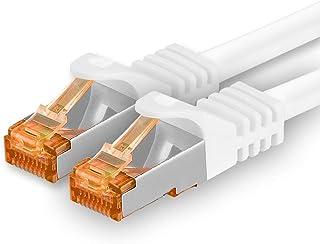 20m - Cat.7 nätverkskabel vit - 1 bit Gigabit Ethernet LAN-kabel 10000 Mbit s patchkabel Cat7-kabel S FTP PIMF-skärmning L...