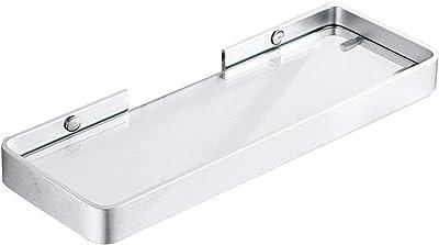 バスルームガラス棚バスルームガラス棚、銅バスルーム強化ガラスフレーム厚い壁に取り付けられた単層バスルームミラーフロントフレーム