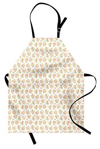 ABAKUHAUS Bruiloft Keukenschort, Corsage lenteboeketten, Unisex Keukenschort met Verstelbare Nekband voor Koken en Tuinieren, Blush Salmon