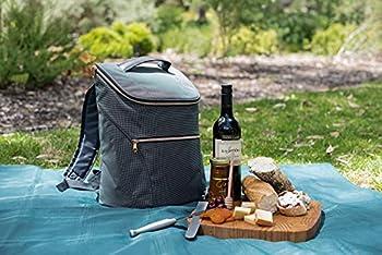 JSK élégant sac à dos isotherme 20L - élégant sac à dos pour le travail, le shopping, les événements, les sorties, les pique-niques, la plage et les voyages