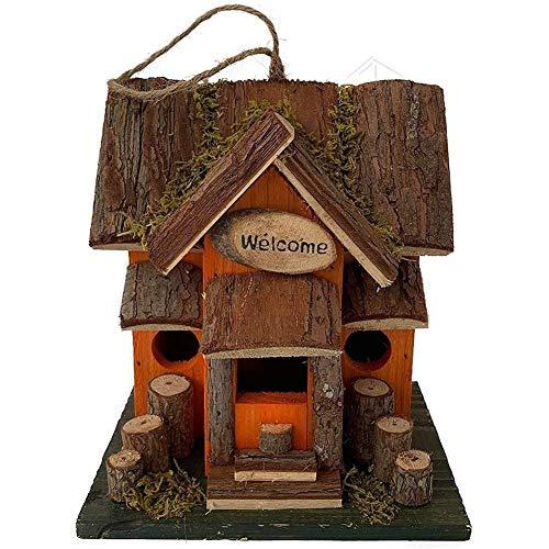 Sucastle Outdoor-Vogel-Nistkasten aus Holz hängend Retro Vogelhaus Drossel Hummingbird Bird Feeder House Garden Cottages Land Dekoration