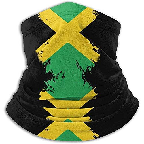 Jamaika Fahnendruck In Schwarz Halswärmer Hals Staubfrei Halsrohr Antistatisch Skifahren Gesicht Schal Wärme Halbmaske Für Männer Frauen