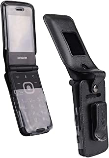 BELTRON Fitted Leather Case for Coolpad Snap 3312A Flip Phone (Boost Mobile, Sprint, T-Mobile, Virgin Mobile) Features: Ro...