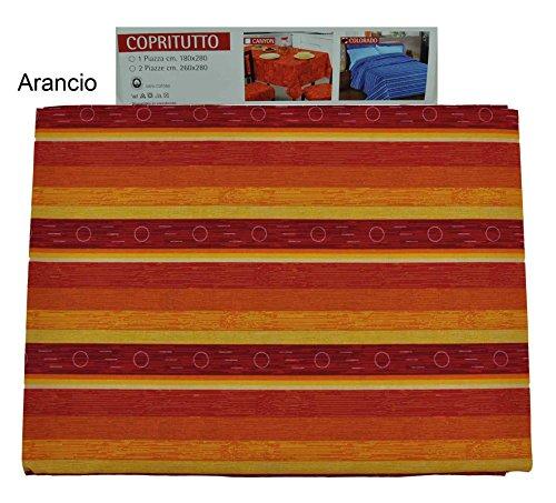CASA TESSILE Colorado Tissu d'ameublement canapé Oreiller cm 180 x 280 - Arancio