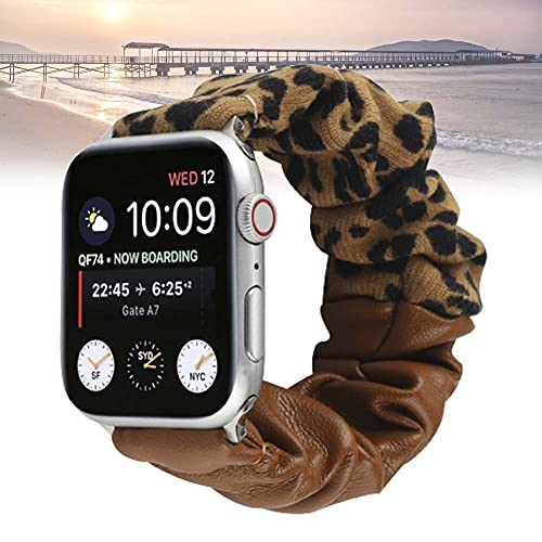 KAEGREEL Correa de Reloj elástica Scrunchie de Repuesto Compatible con Apple Watch 38 mm 40 mm 42 mm 44 mm, Correa Suave y elástica para Reloj Scrunchy Compatible con iWatch Series 1-6,42/44mm