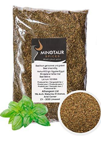 Minotaur Spices | Basilikum getrocknet und gerebelt | 2 x 400 g (800 g)