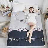 J-Kissen Boden Tatami-Matte, Schlafmatratzenauflage Pad Folding Dicker, Futon-Matratze Kissen, Studentenwohnheim Schlafmatte (Color : R, Size : 180x200cm(71x79inch))