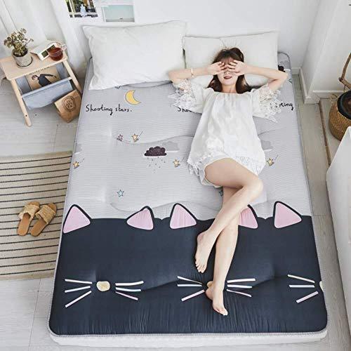 J-Kissen Boden Tatami-Matte, Schlafmatratzenauflage Pad Folding Dicker, Futon-Matratze Kissen, Studentenwohnheim Schlafmatte (Color : R, Size : 150x200cm(59x79inch))