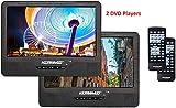 Koramzi Portable 9' Dual Screen Dual DVD Player W...