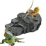 EKUEY Terrariums Habitat Decoration Basking Platform Activity Ledge for Turtles, Fogs, Bearded Dragon and Reptile
