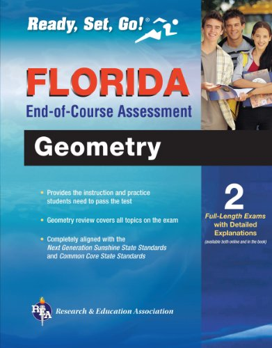 Florida Geometry End-of-Course Assessment Book + Online (Florida FCAT & End-of-Course Test Prep) (English Edition)