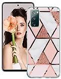 S20 FE Hülle Marmor Muster Handyhülle Kompatibel mit Samsung Galaxy S20 FE 5G Hülle Silikon Weiche TPU Bumper Hülle Cover Schutzhülle für Galaxy S20 FE 5G/Galaxy S20 Fan Edition Handy (D)
