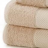 Linens Limited Toalla de baño Extragrande - 100% algodón Turco - Beige,...