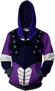 COSEASY JoJo's Bizarre Adventure Jotaro Kujo Hooded Sweater Zipper Kujo Jotaro Hoodies Jacket Costume Unisex