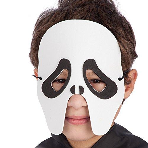 Carnival 00545 – Fantôme Masque pour Enfant, Eva, en enveloppe avec Serrage