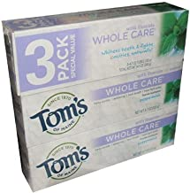 Tom's of Maine Whole Care Toothpaste With Flouride Peppermint Flavor 4.7 Ounce Tube (pack of 3)
