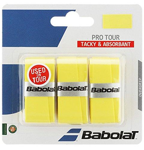 Babolat(バボラ) 硬式テニス バドミントン グリップテープ PRO TOUR X3 (3本入) BA653037 イエロ-(303)