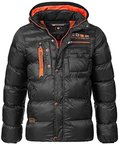 Geographical Norway Herren Stepp Winterjacke Citernier Kapuze Black L