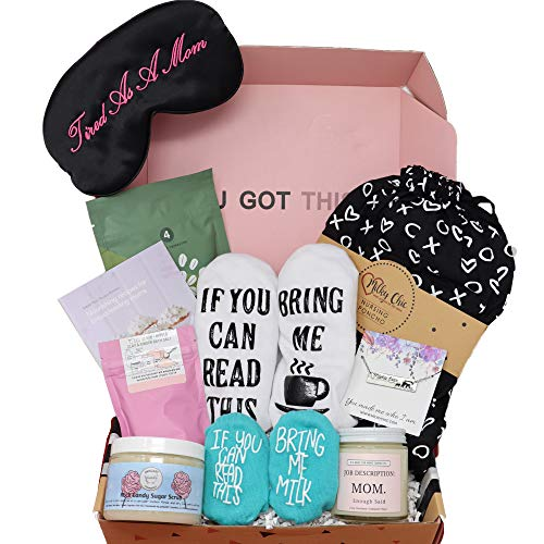 Milky Chic Gift Box for New Moms- 10 Unique Postpartum Personal Care Items for Mothers-Mommy's Pampering Surprise Basket -...