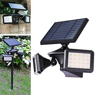 Solar Lights Outdoor, Motion Sensor Solar Flood Lights, Dusk to Dawn Landscape Lights, Wireless Security Lights 2-in-1 for Driveway Porch Path Solar Powered, EMANER (6500K Solar Floodlights, 1-Pack)