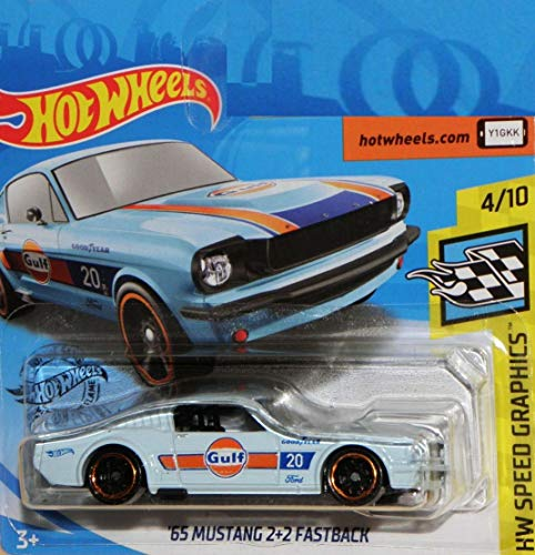 Hot.Wheels '65 Mustang 2+2 Fastback, 1:64 - Light Blue