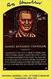 Happy Chandler Autographed Hall of Fame Plaque Postcard - JSA Authenticated - Fanatics Authentic Certified