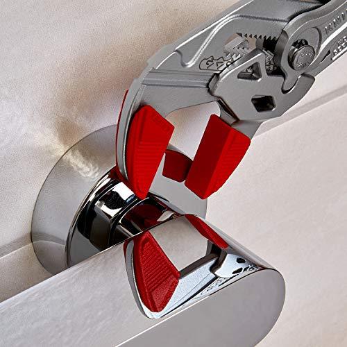 KNIPEX 86 03 250 SB Zangenschlüssel Zange und Schraubenschlüssel in einem Werkzeug verchromt mit Kunststoff überzogen 250 mm (in SB-Verpackung)