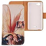 Lankashi PU Flip Leder Tasche Hülle Case Cover Schutz Handy Etui Skin Für Wiko Kite 4G Wing Girl Design