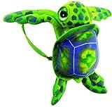 Fiesta Toys 17' Big Eye Green Sea Turtle Travel Backpack Buddies Stuffed Bookbag