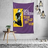 Social Distortion Tapestry Wall Hanging Tapestries As Wall Blanket Wall Art And Decoration For Bedroom Living Room Dorm 60x40 Inch