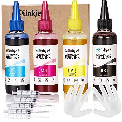 Osinkjet Sublimation Ink 400ML Kit Refill for Epson ET2720 WF7710 WF7720 C88 C88+ WF3640 WF7110 WF7210 WF3610 Inkjet Printers etc