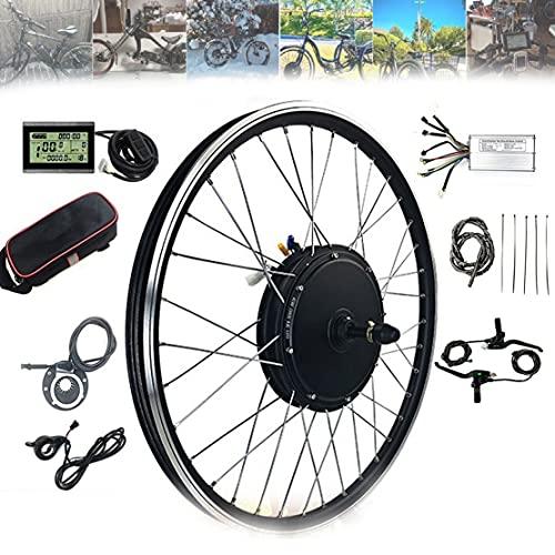 DDCHH Kit de Conversión para Bicicleta Eléctrica, 20' 24' 26' 27.5' 28'29' 700C Pulgadas Kit de Conversión de Motor Rueda Delantera, 1000W 1500 Electric Bicycle Motor Kit,1000W-28Inch