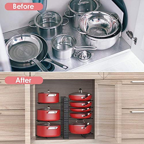 513UDMf2gkL - GFDFD Multi-funtion Pot Pan Lagerregal 8Tiers Pot Bratpfanne Deckel Lagerregal Organizer Küche Kochgeschirr Standhalter