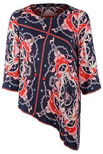 Riani Damen Bluse mit Print Navy - M (38)