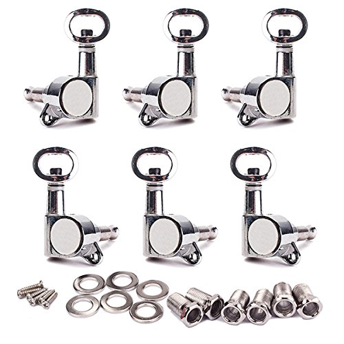 Chrome Guitar Tuning Pegs Machine Head Tuners Piercing Cabezas para Guitarra Eléctrica...