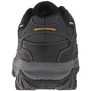 Skechers Men's AFTERBURNM.FIT Memory Foam Lace-Up Sneaker, Black, 12 M US