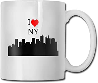 Porcelain Coffee Mug New York City Love Ceramic Cup Tea Brewing Cups for Home Office