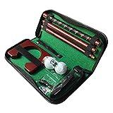 chenxiaspindes Putter de golf portátil para diestros, juego de putter de golf de metal con agujero de práctica para entrenamiento en interiores y exteriores