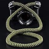 Camera Neck Strap (550 Paracord) High-end Portable Camera Shoulder Strap Sling Strap, Compatible with Nikon Canon Sony Panasonic Fujifilm Olympus, DSLR SLR Mirrorless Camera (GREEN)