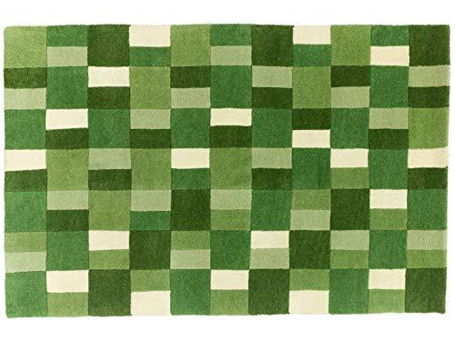 Indo Nepal Teppich 186x122 Handgeknüpft 180 x 120 Grün Moderner Tibeter Mosaik