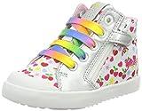 Geox B Kilwi Girl A, Zapatillas Bebé-Niñas, Blanco (White/Multicolor), 22 EU