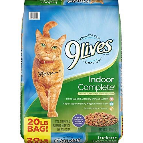 Pienso con sabor a pollo y salmón Complete para gatos de interior de 9 Lives
