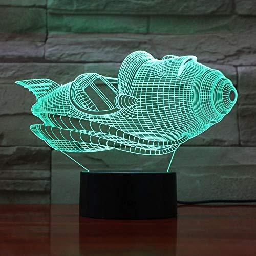3D Illusionslampe LED Nachtlicht Kreative Ve Yacht Boot Mit 7 Farben Für Office Home Office Dekor Erstaunliche Betrachtung