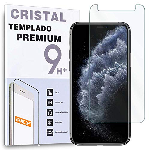 REY Protector de Pantalla para iPhone 11 Pro, iPhone X, iPhone XS, Cristal Vidrio Templado Premium
