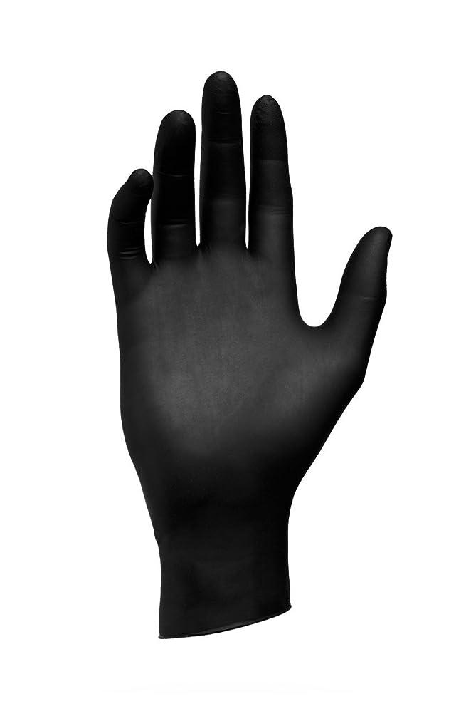 パッケージ対象テキストエバーメイト センパーガード ニトリルブラックグローブ ブラック S(6.0~6.5インチ)甲幅8cm 100枚入 6個セット