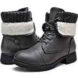 Moda Chics Womens Ankle Boots Low Heel Casual Winter Boots Short Booties Grey 7 B(M) US