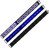 KZKR - Rampa LED para acuario, 150 cm, color blanco, azul, rojo, verde, luz natural, espectro completo, 150 cm – 180 cm, extensible, enchufe europeo, lámpara para plantas, pescado A176