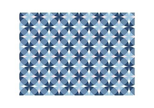 Spum Manteles Individuales de Papel [Paquete 50 Unidades] Tamaño DIN A3 (42 x 29,7 centímetros) Salvamantel Desechable Antimanchas. Diseño Círculos