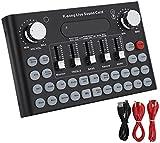 Kettles Scheda Audio in Diretta Esterna USB Mixer Audio Digitale con più Effetto sonoro Divertente BT. Connection Sound Effects Machine per la Registrazione Musicale DJ. Streaming